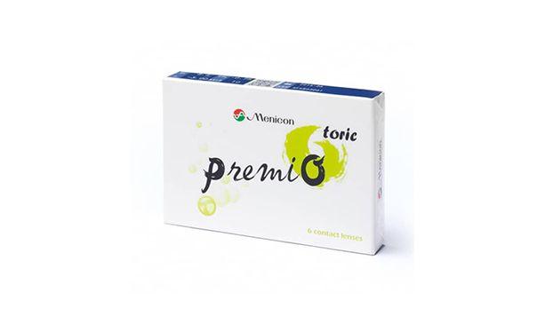 Lentilles de contact Menicon PremiO Toric - Vue de face