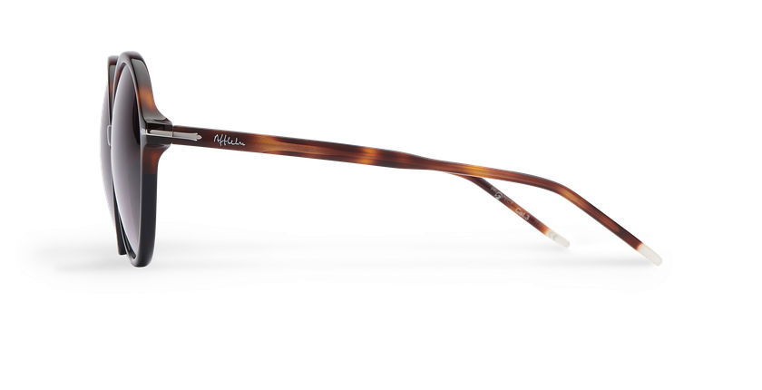 Lunettes de soleil femme KENDAL écaille/noir - Vue de côté