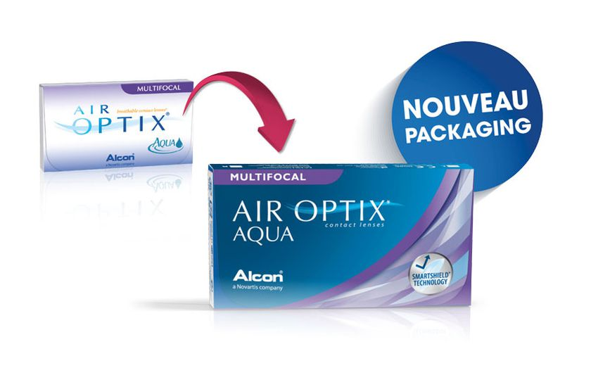Lentilles de contact Air Optix Aqua Multifocal 3L - Vue de face ... a09d73ae098b