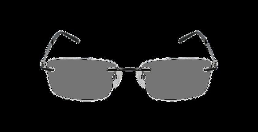 Lunettes de vue homme IDEALE-01 noir/argenté - Vue de face