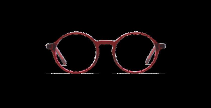 Lunettes de vue homme DIDIER rouge - Vue de face