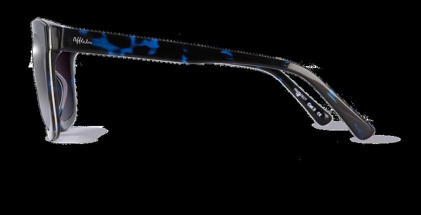 Lunettes de soleil femme CECILE écaille/bleu - Vue de côté