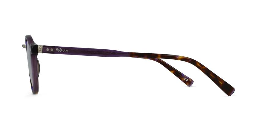 Lunettes de vue BRAHMS écaille/violet - Vue de côté