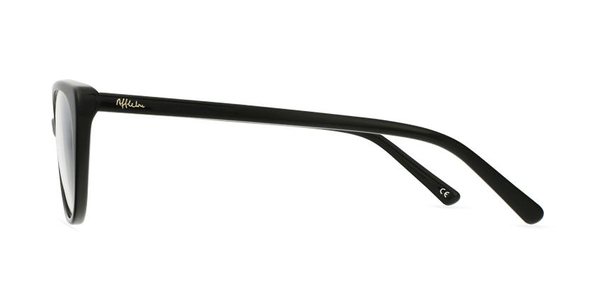 Lunettes de vue femme BERTILLE noir - Vue de côté
