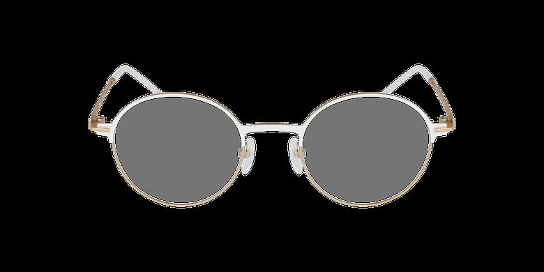 Lunettes de vue femme VENUS blanc/beigeVue de face