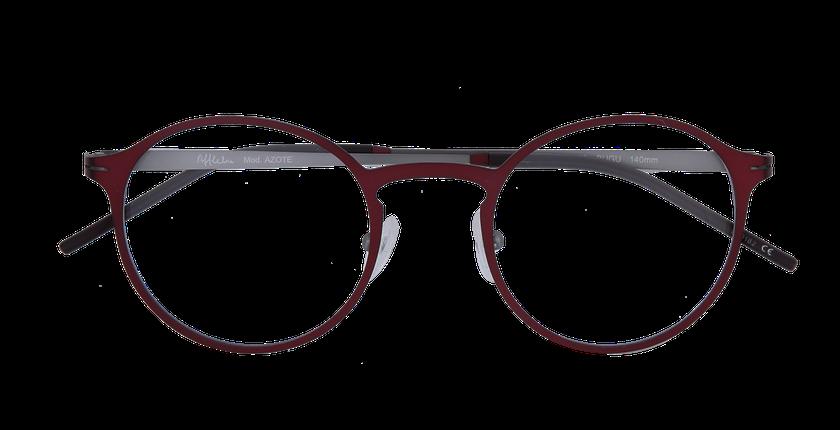 Lunettes de vue homme AZOTE rouge/gris - Vue de face