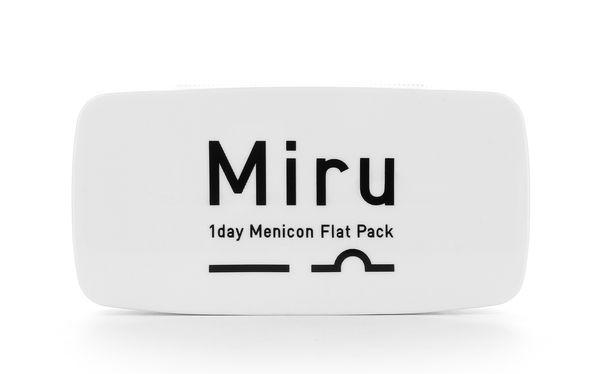 Lentilles de contact Miru 1day Menicon Flat pack - 30 - Vue de face