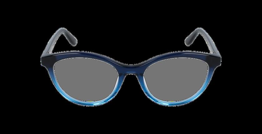 Lunettes de vue femme AMELLE bleu - Vue de face