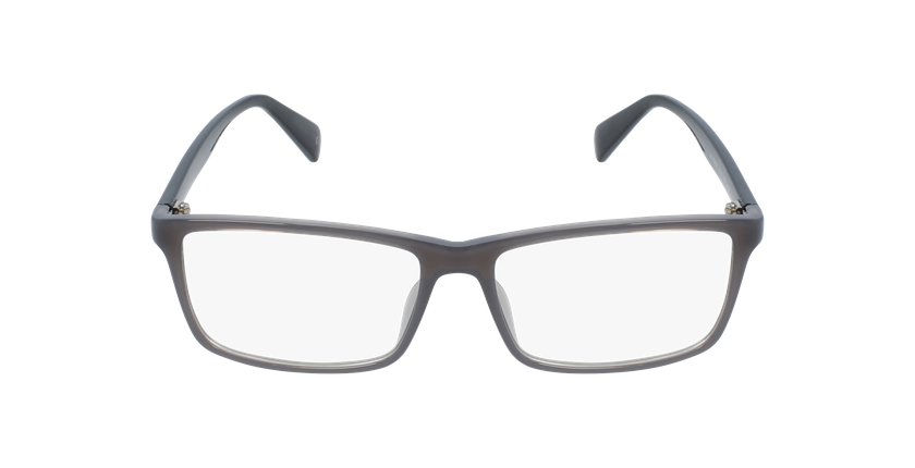 Lunettes de vue homme RZERO10 gris/noir - Vue de face