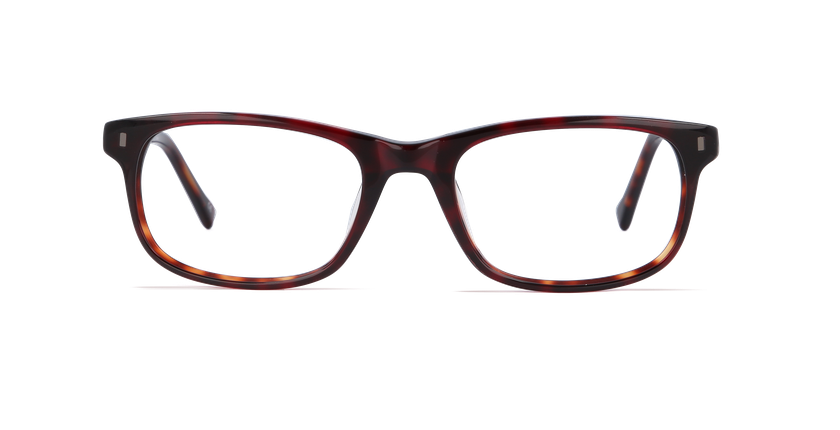 Lunettes de vue homme PARKLANE écaille/rouge - Vue de face