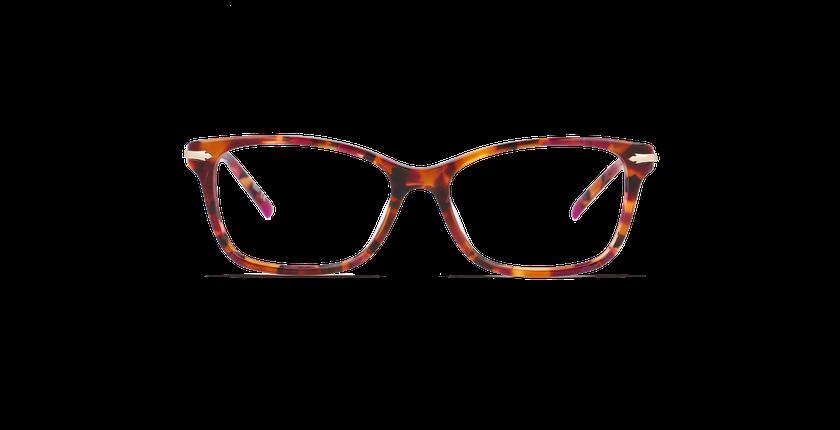 Lunettes de vue femme ENNIS violet/doré - Vue de face