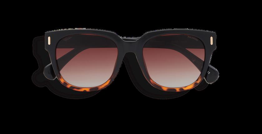 Lunettes de soleil femme MONOI POLARIZED noir/écaille - Vue de face