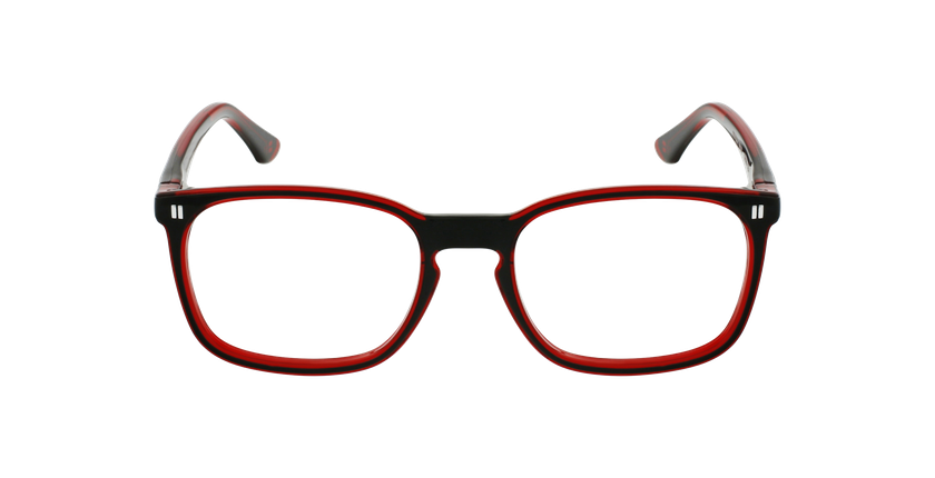 Lunettes de vue enfant REFORM TEENAGER2 noir/rouge - Vue de face