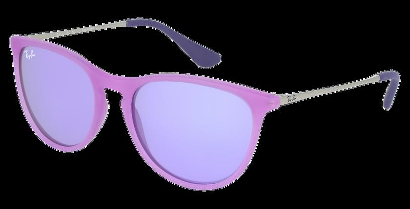 Lunettes de soleil enfant 0RJ9060S violet - vue de 3/4