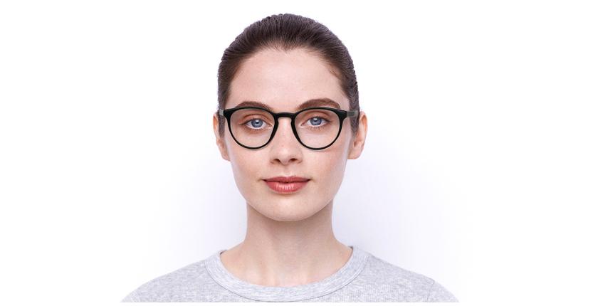 Lunettes de vue femme RZERO2 noir - Vue de face