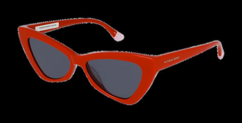 Lunettes de soleil femme VS0022 rouge - vue de 3/4