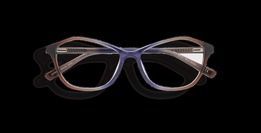 Lunettes de vue femme TESSA marron/bleu - Vue de face