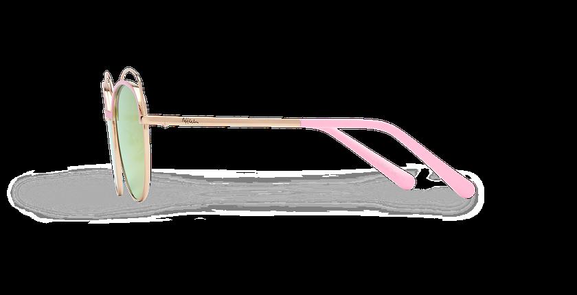 Lunettes de soleil enfant BOOP doré/rose - Vue de côté
