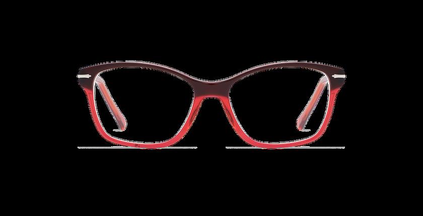 Lunettes de vue femme LADOYE rouge/violet - Vue de face