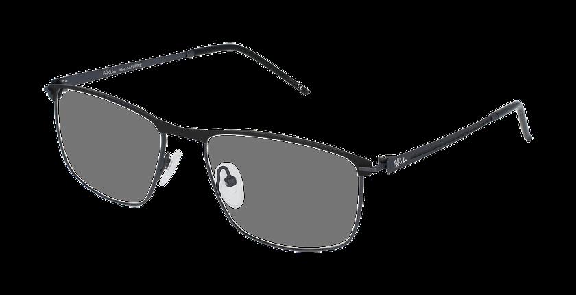 Lunettes de vue homme SATURNE noir/gris - vue de 3/4