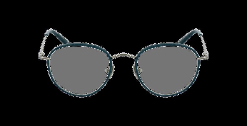 Lunettes de vue SHUBERT argenté/turquoise - Vue de face