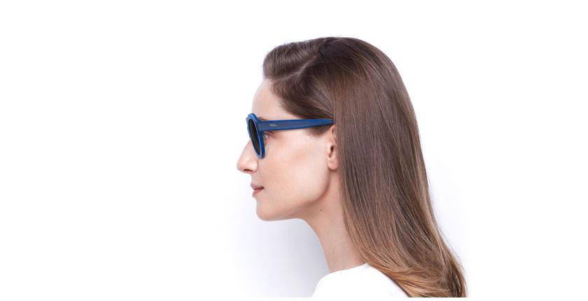 Lunettes de soleil femme ALYSSA bleu - Vue de côté