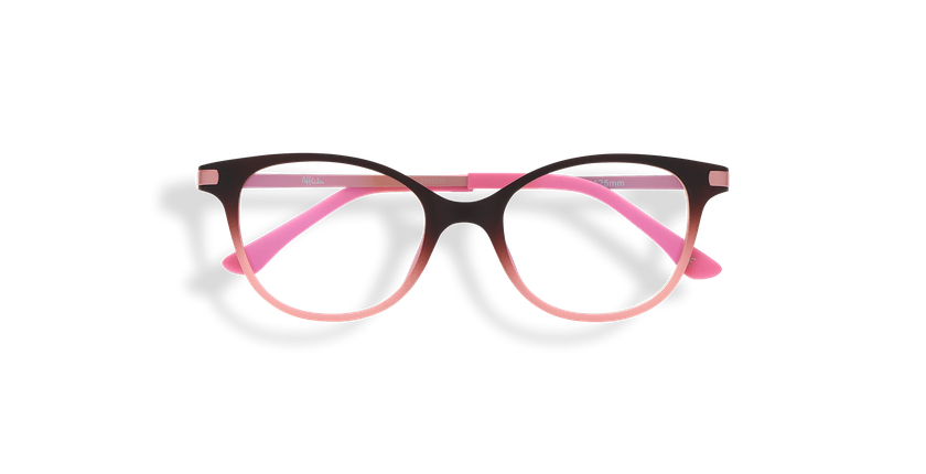 Lunettes de soleil enfant MAGIC 31 BLUEBLOCK marron/rose - Vue de face