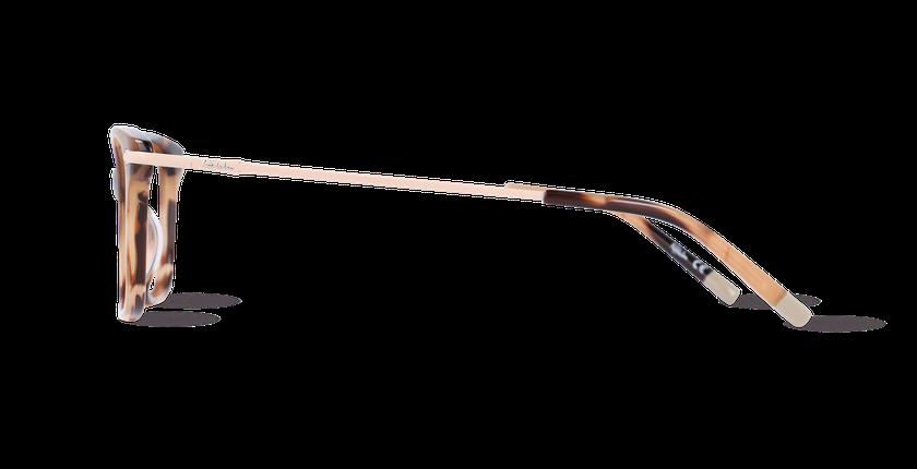 Lunettes de vue femme ENNIS marron - Vue de côté