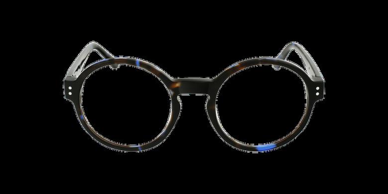Lunettes de vue EMMY bleu/écailleVue de face