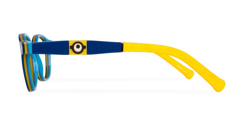 Lunettes de vue enfant CARL1 bleu/jaune - Vue de côté