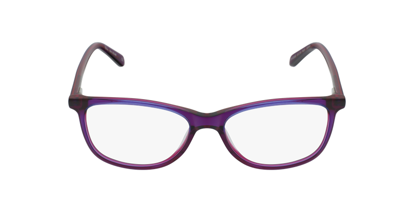 Lunettes de vue femme SOLINE violet - Vue de face