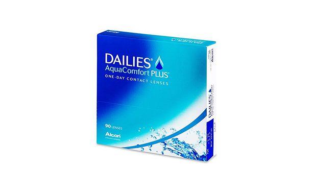 Lentilles de contact Dailies AquaComfort Plus 180L - Vue de face