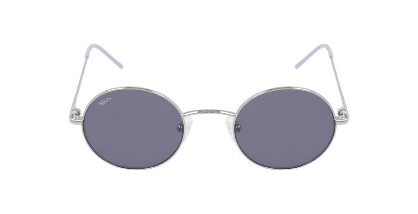 Lunettes de soleil MOSTOLES argenté/violet - Vue de face