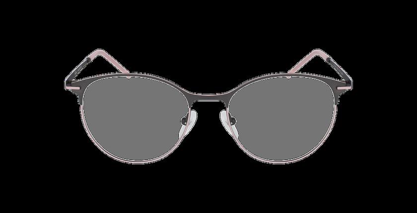 Lunettes de vue femme MEROPE gris/rose - Vue de face