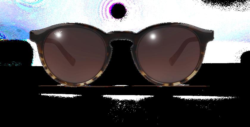 Lunettes de soleil femme CARMEN écaille - Vue de face