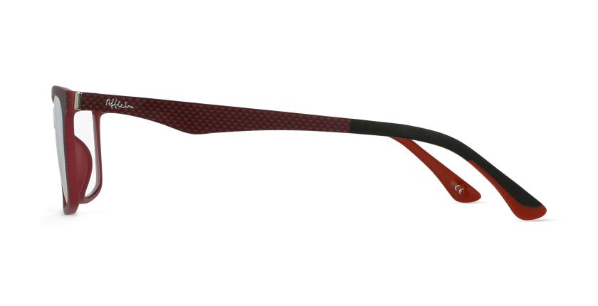 Lunettes de vue homme MAGIC 32 rouge - Vue de côté