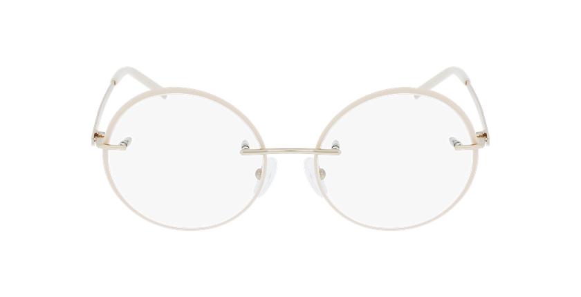 Lunettes de vue femme IDEALE-30 doré/beige - Vue de face