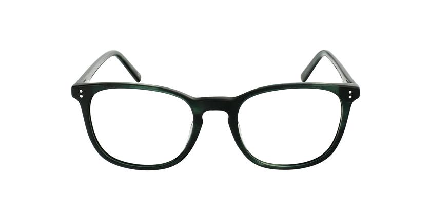 Lunettes de vue homme MAXENCE vert - Vue de face