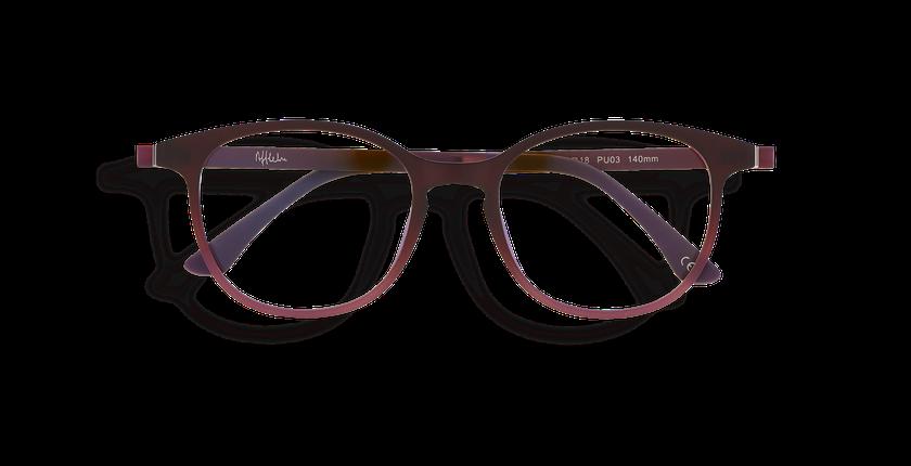 Lunettes de vue femme MAGIC 09 violet - Vue de face