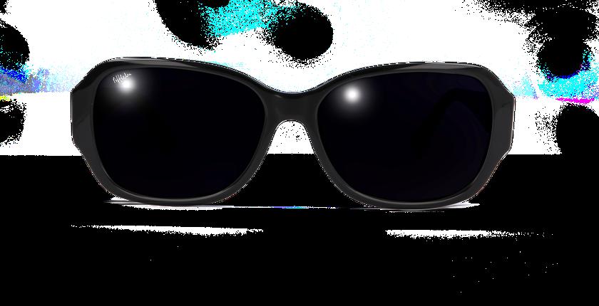 Lunettes de soleil femme EVE noir - Vue de face