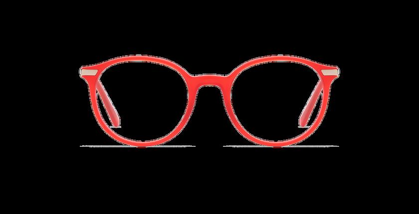 Lunettes de vue homme BENJAMIN rouge - Vue de face