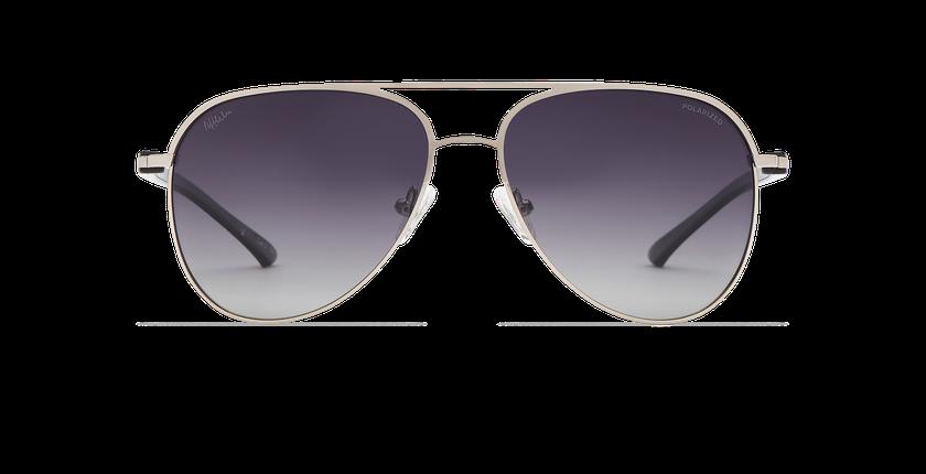 Lunettes de soleil MIAMO POLARIZED argenté/noir - Vue de face
