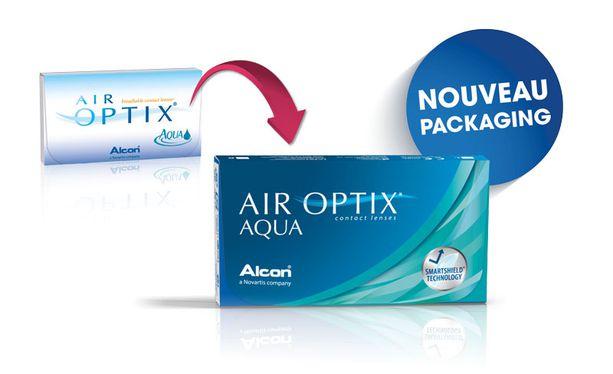 Lentilles de contact Air Optix Aqua 3L - Vue de face