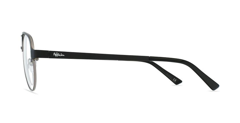 Lunettes de vue NAEL noir/gris - Vue de côté
