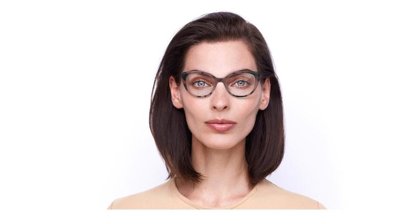 Lunettes de vue femme BERTILLE rose - Vue de face