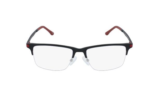 Lunettes de vue homme MAGIC 56 BLUEBLOCK noir/rouge - Vue de face