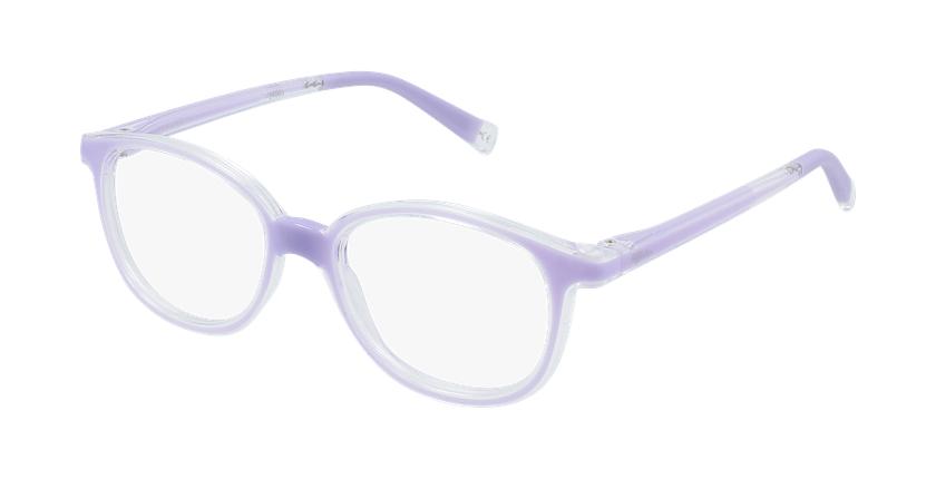 Lunettes de vue enfant RFOM1 violet - vue de 3/4