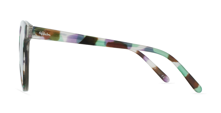 Lunettes de soleil femme MAUD écaille/violet - Vue de côté