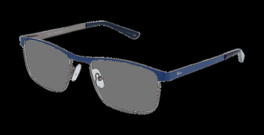 Lunettes de vue homme GUIDO bleu/argenté - vue de 3/4