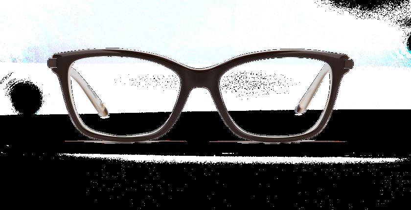 Lunettes de vue femme MEDICIS marron/marron - Vue de face